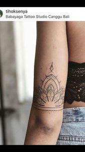 Mandala-Tattoo hinter dem Arm #Mandalatattoo – Corynn DeCosse