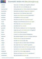 Verben Liste Verben mit Akkusativ