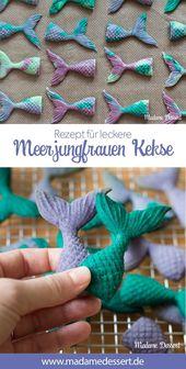 Rezept für schnelle 3D Meerjungfrauen Kekse