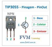 Pinagem – Pinout – Transistor – NPN – TIP3055 – Características