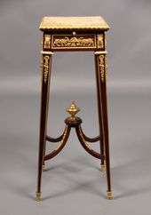 Late 19th Century Gilt Bronze Mounted Marble Top P…