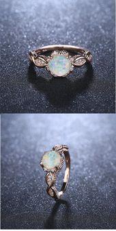 Virant Opal Rose Gold Ring #Jewellery #Rings – Paper Art – Yeni Dizi