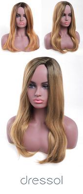 Side Bang Long Colormix Straight Synthetic Wig