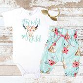 Bleiben Sie wild, mein Kind Tipi Hosen Neugeborenen Outfit   – Newborn outfits