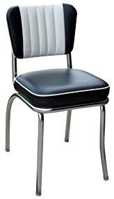Richardson Seating Retro 1950s Diner Chair In Black And White With