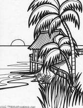 Island Printable Coloring Pages Coloring Pages Beach Coloring Pages Coloring Books