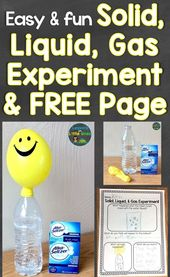 Easy & Fun Solid, Liquid, Gas Science Experiment with Free Printable Page – Lessons for Little Ones by Tina O'Block