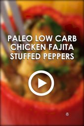 Chicken Fajita Whole30 Gefüllte Paprika Rezept   – * Keto Low Carb Recipes from Wholesome Yum*