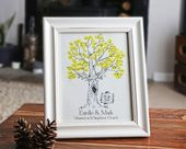Wedding Fingerprint Tree Guest Book | baby shower fingerprint tree | Wedding gift | Birthday| Christ