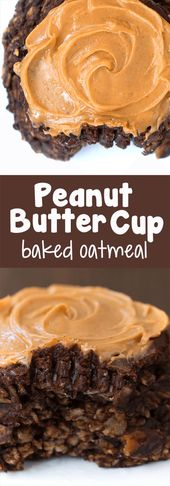 Chocolate Peanut Butter Cup Baked Oatmeal (Chocolate-Covered Katie)