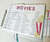 Ich liebe Filme, aber die meisten Klassiker habe ich noch nicht gesehen! Ich musste mir ein l machen …   – bullet journal