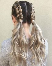 21 sweet braided hairstyles for summer 2018 – #den # hairstyles # for #woven # summer …