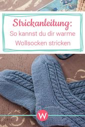 Warme Woll-Socken stricken