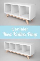Kallax Regal Untergestell aus Holz / schräge Füße