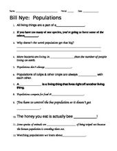 Bill Nye Populations Video Worksheet Bill Nye This Or That Questions Bill Nye Science