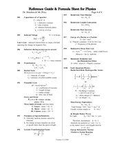 Physics Formula List 1 Physics Formulas List Physics Physics Formulas