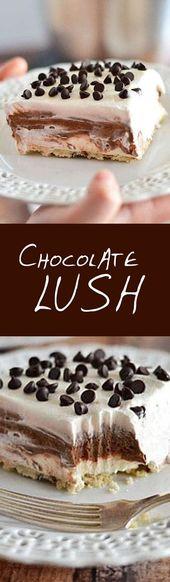 Chocolate Lush #Rezepte #Kuchen #KuchenRezepte #Party #Schokoladenkuchen
