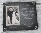 Father of the bride gift, dad of all the walks, weddings, gifts mementos, personalized portraits fra