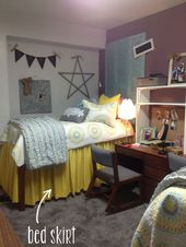 Pin By Kelsey Rice On College Beautiful Dorm Room Dorm Room Bedding Dorm Room Diy