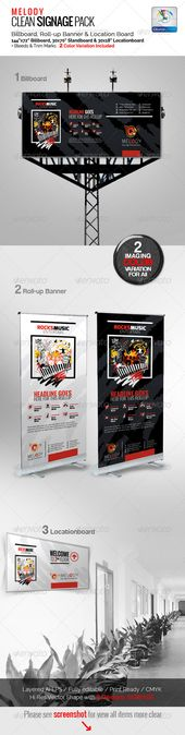 Melody Clean Signage Pack  #GraphicRiver             Corporate Clean & Artistic...