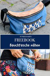 Gratis Nähanleitung für einen Bauchtasche – Freebook von