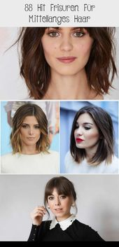 88 hit hairstyles for medium length hair – DE – hairstyles medium length tiered with bangs, updo idea, elegant woman for special occasion #Frisu …
