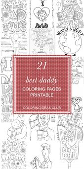 21 Best Daddy Coloring Pages Printable