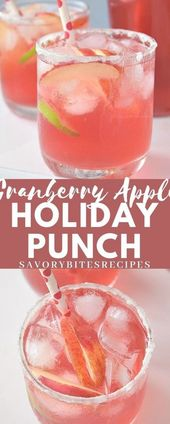 Try this exciting Non-Alcoholic Party Punch this Holiday Season! Cranberry Apple…   – drinks nonalcoholic