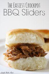 Einfache Slow Cooker BBQ Brisket Sliders