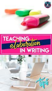 Educating Elaboration in Writing