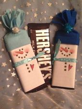 Snowmen Bars – Fully Assembled – Wrapped Candy Bar Party Favors – Party Favors – Stocking Stuffers