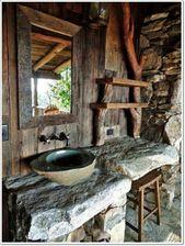 22 Badezimmer Ideen für eine rustikale Gemütlichkeit