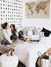 Das Mid Century Modern Dekor mit einem Budget, das perfekt für Ihren Schlafsaal ist
