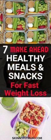 7 Make Ahead gesunde Mahlzeiten und Snacks für Weight Loss