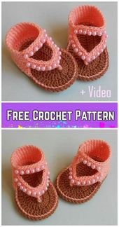 New Crochet Baby Shoes Girl Free Pattern Ideas