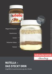 Verbraucherzentrum Hamburg: Nutella – das ist drin Oh weia … Wenn ein …   – Ernährung