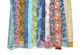 Assorted 5 PC Wholesale Lot Pareo Hand Block Print Cotton Sarong Dress Large #in…