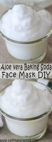 Aloe Gel and Baking Soda Face Mask