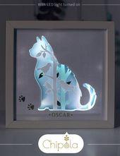Katze DIY Kunst, 3d DIY Papierkunst Kit, Katze Papierkunst, Papercraft, Papierschnitt, geschichteten Papierkunst, Kunst mit Licht, Papier mit Licht, Tiere Kunst   – kreativ