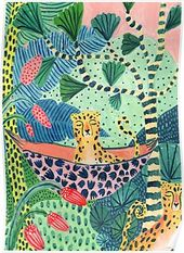 Jungle Leopard Family! Poster