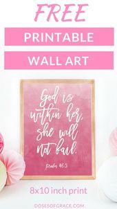 Free Scripture Wall Art