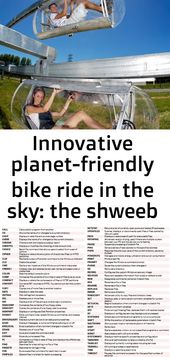 Innovative planet-friendly bike ride in the sky: the shweeb 1