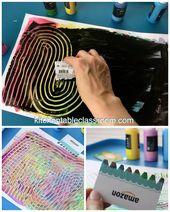 DIy Recycled Paint Scraper for Kids