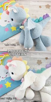 16 Los mejores patrones y tutoriales de ganchillo gratis de Amigurumi Animal Dog Dragon Bear …   – Crafts