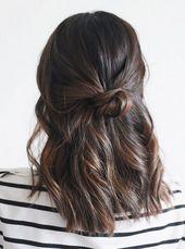 Elegante einfache schnelle Party-Frisuren - Trend
