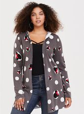 Mickey & Minnie Collection Print Hooded Cardigan in 2020