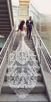 Meerjungfrau Brautkleider für Hochzeitsfeier ★ …