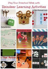 Reindeer Math Games for Preschool Learning  – Playful Preschool