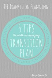 5 Suggestions for Writing IEP Transition Plans and Outcomes