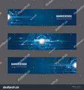 Abstract Futuristic Technology Banner Template Modern Stock Vector (Royalty Free) 1496398661